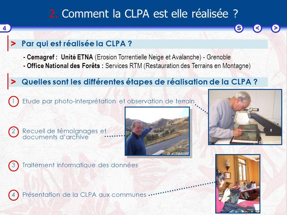 <>S 5 3. Comment lire une CLPA ? Voire la présentation « Lire une CLPA »