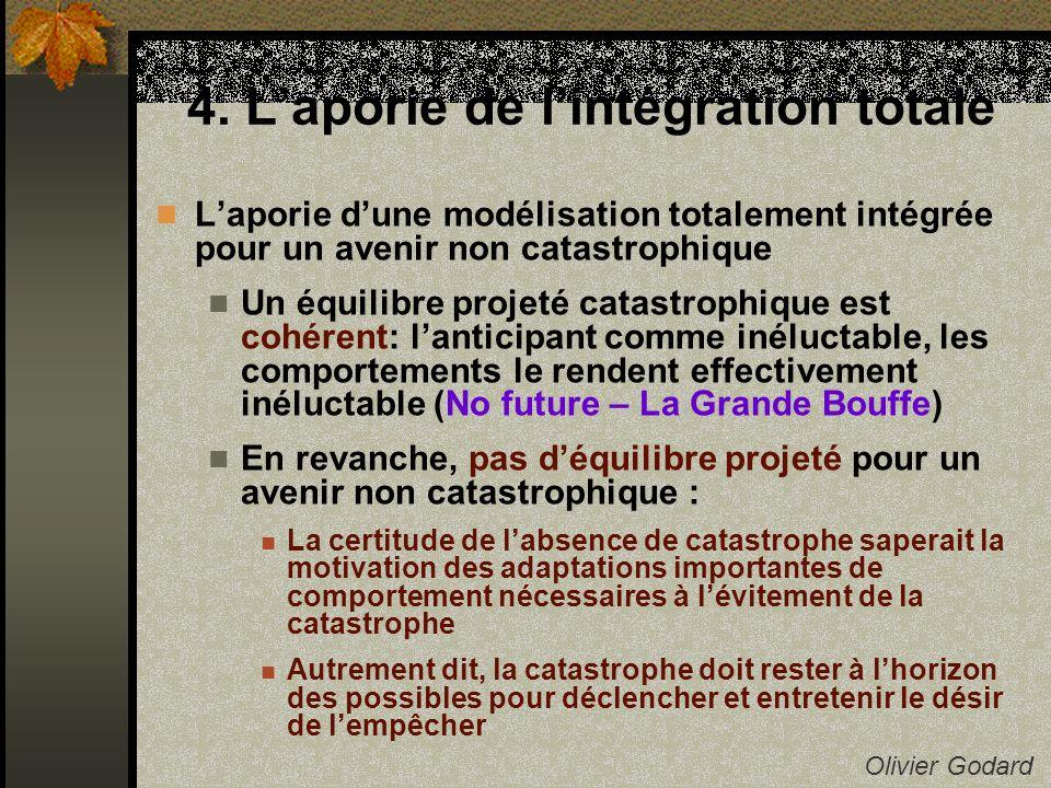 4. Laporie de lintégration totale Olivier Godard Laporie dune modélisation totalement intégrée pour un avenir non catastrophique Un équilibre projeté