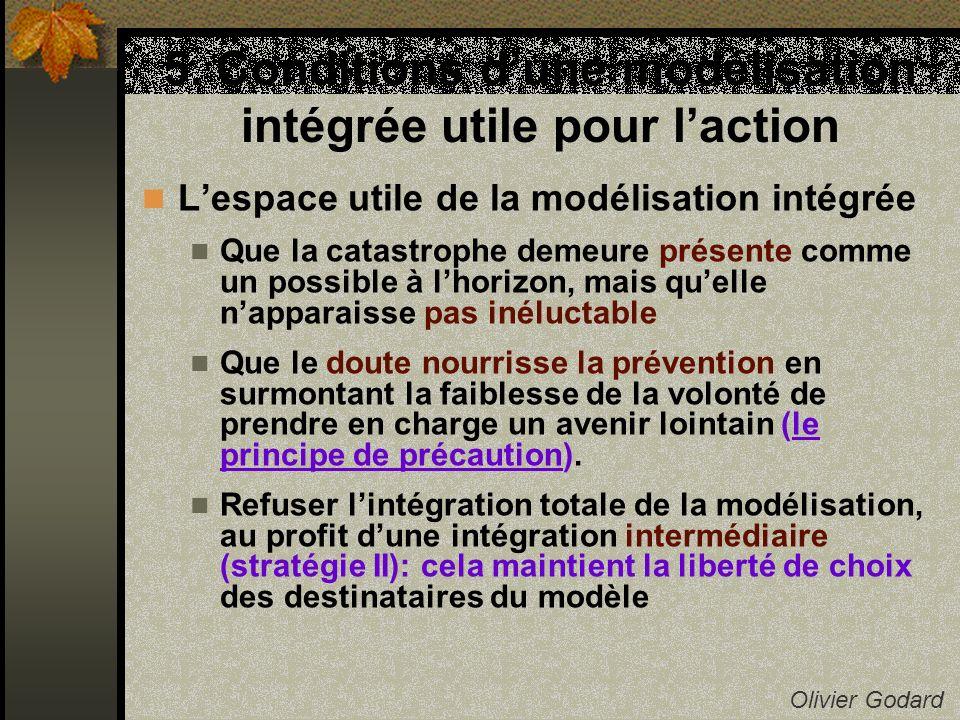 5. Conditions dune modélisation intégrée utile pour laction Olivier Godard Lespace utile de la modélisation intégrée Que la catastrophe demeure présen