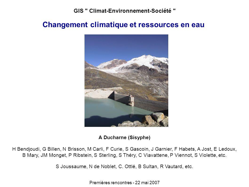 Importance dune modélisation réaliste CaB standard sans calage : Biais = 3.7%, Nash = - 15.8 CaB + réservoir souterrain capacitif et calage : Biais = - 0.5 %, Nash = 0.70 Importance des aquifères pour la réponse à long-terme Exemple du bassin de la Somme (projet ECCO) Carli, M2, 2005