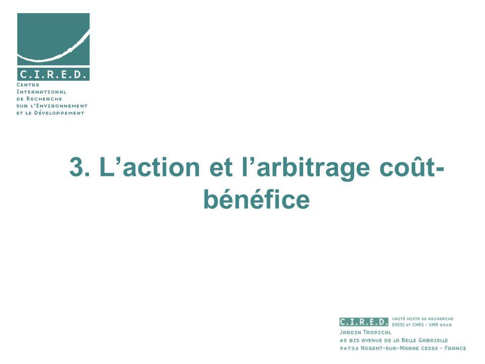 3. Laction et larbitrage coût- bénéfice