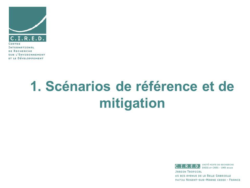1. Scénarios de référence et de mitigation