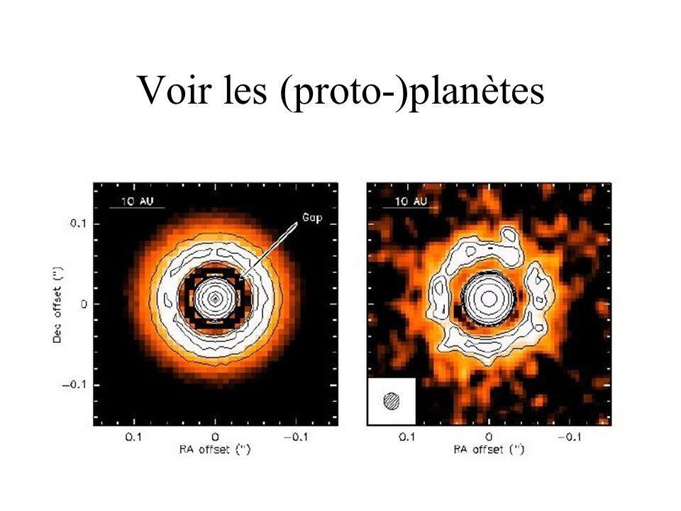 Voir les (proto-)planètes