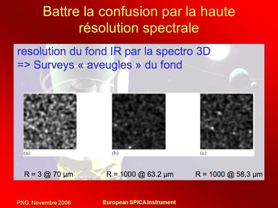 PNG, Novembre 2006 European SPICA Instrument Battre la confusion par la haute résolution spectrale
