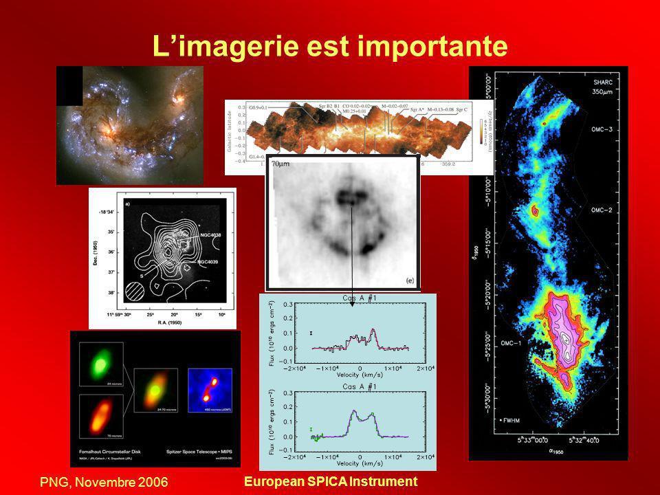 PNG, Novembre 2006 European SPICA Instrument Limagerie est importante