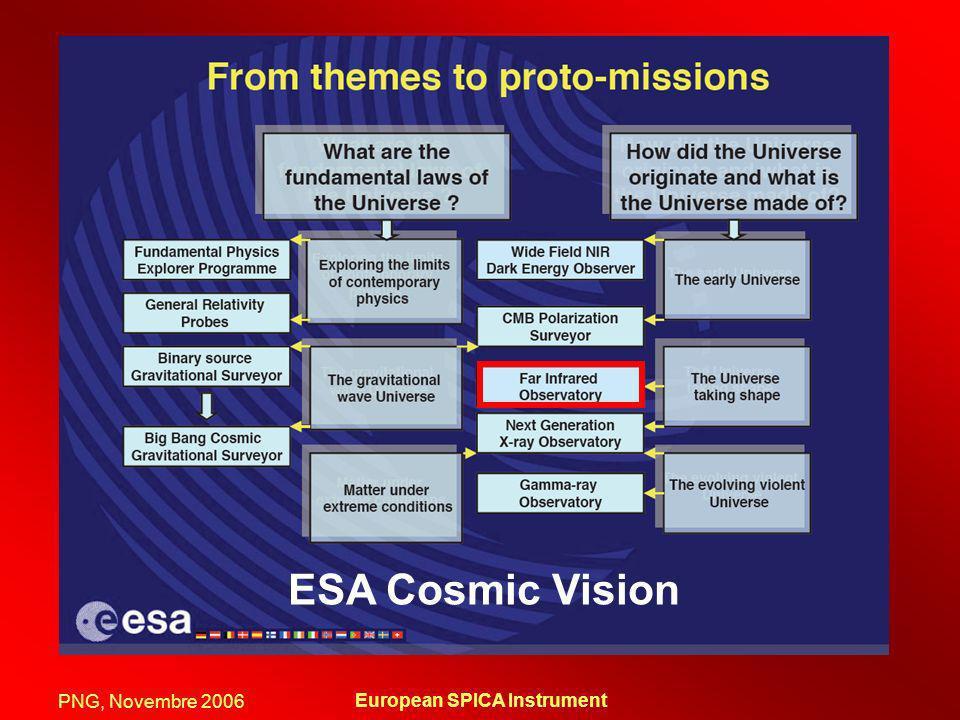 PNG, Novembre 2006 European SPICA Instrument ESA Cosmic Vision