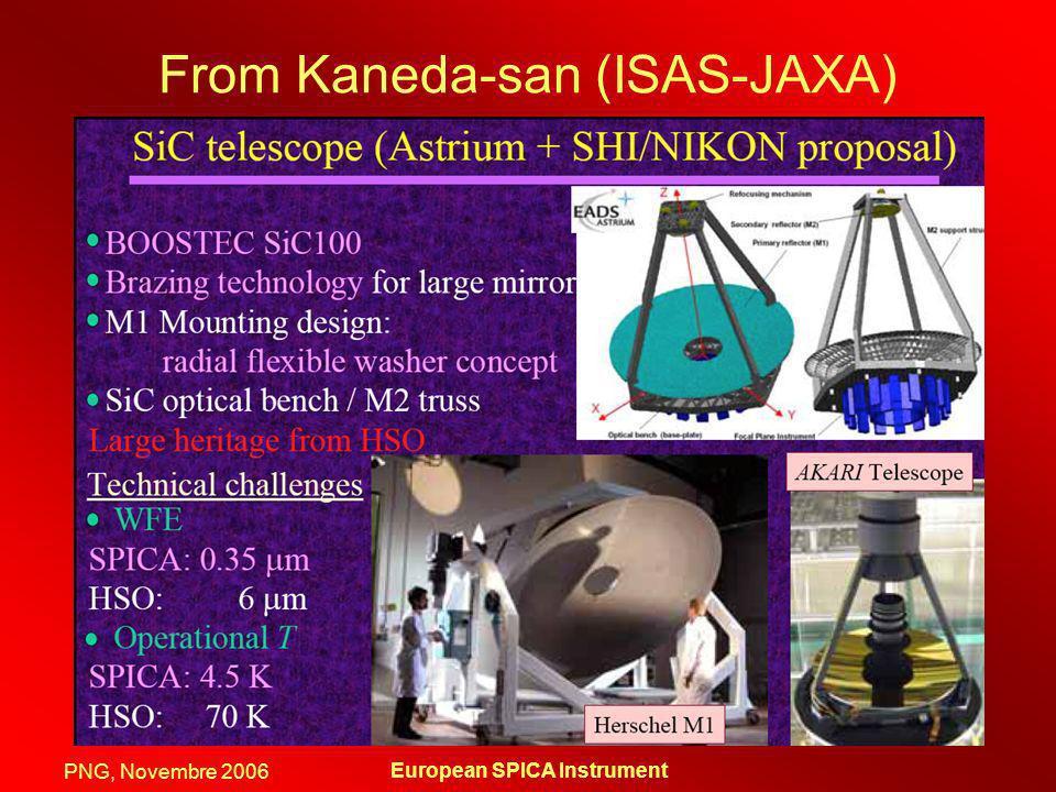 PNG, Novembre 2006 European SPICA Instrument From Kaneda-san (ISAS-JAXA)