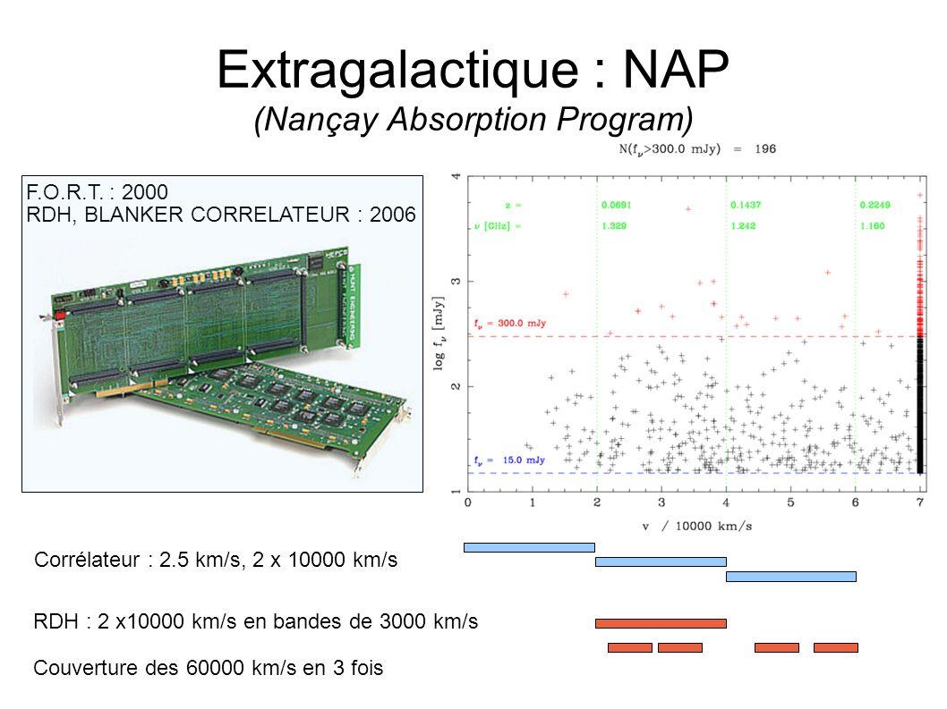 Extragalactique : NAP (Nançay Absorption Program) F.O.R.T.