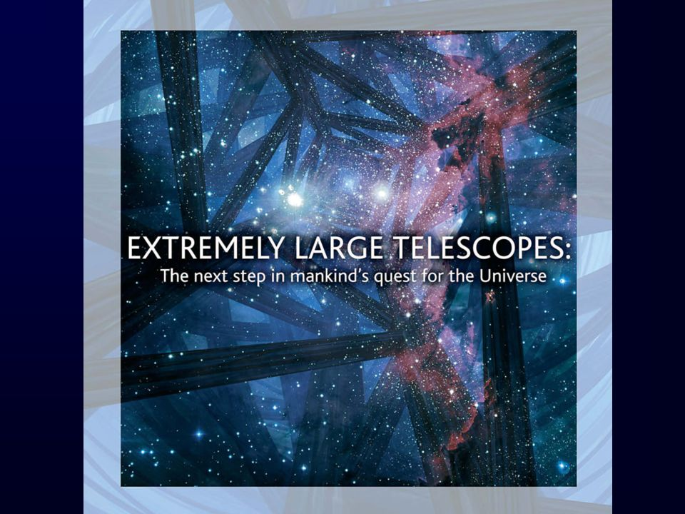 Exo-planètes et exo-terres 20 milli-arcsec for a 100m telescope = 1 AU at 50 pc Specifications: – High-contrast imaging and low-resolution spectroscopy –Coronography and other contrast-enhancing methods –Spatial Resolution: Very high-Strehl ratio (about 90%) adaptive optics –Spectral Resolution: R~500-1000 –Wavelength Range: 0.6-1.4 m –Dynamic Range constraint: 10 10 contrast in brightness between star and an Earth-like planet; a challenge: residuals.