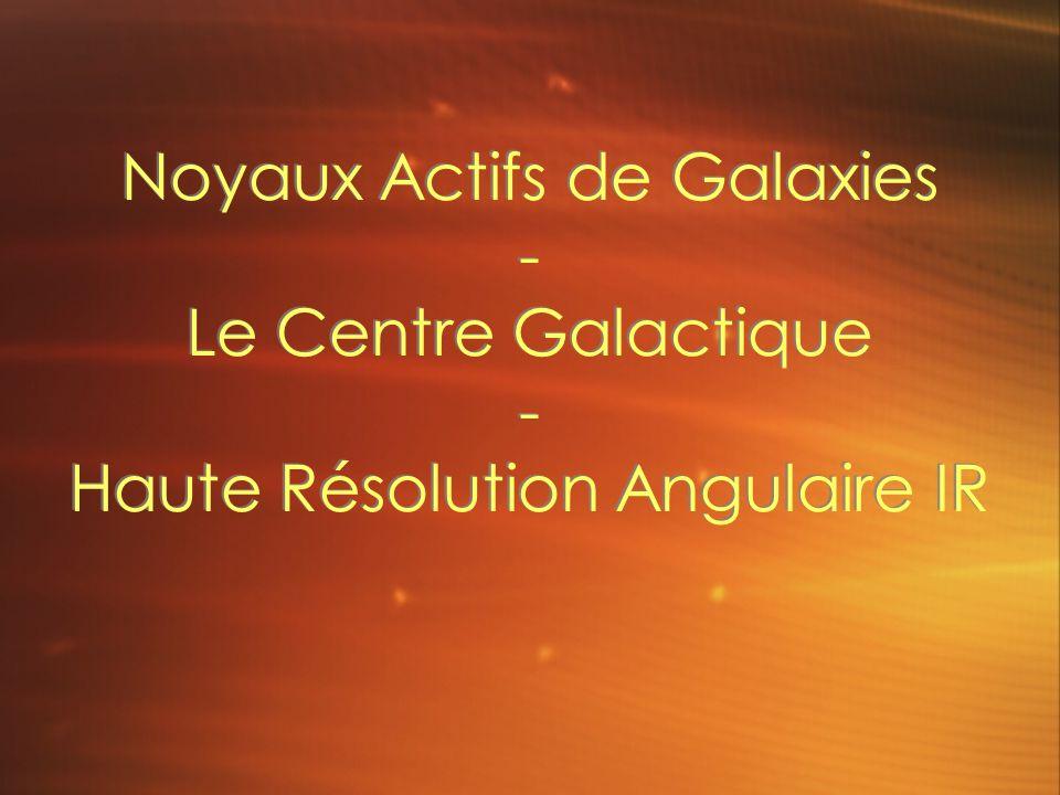 Noyaux Actifs de Galaxies - Le Centre Galactique - Haute Résolution Angulaire IR