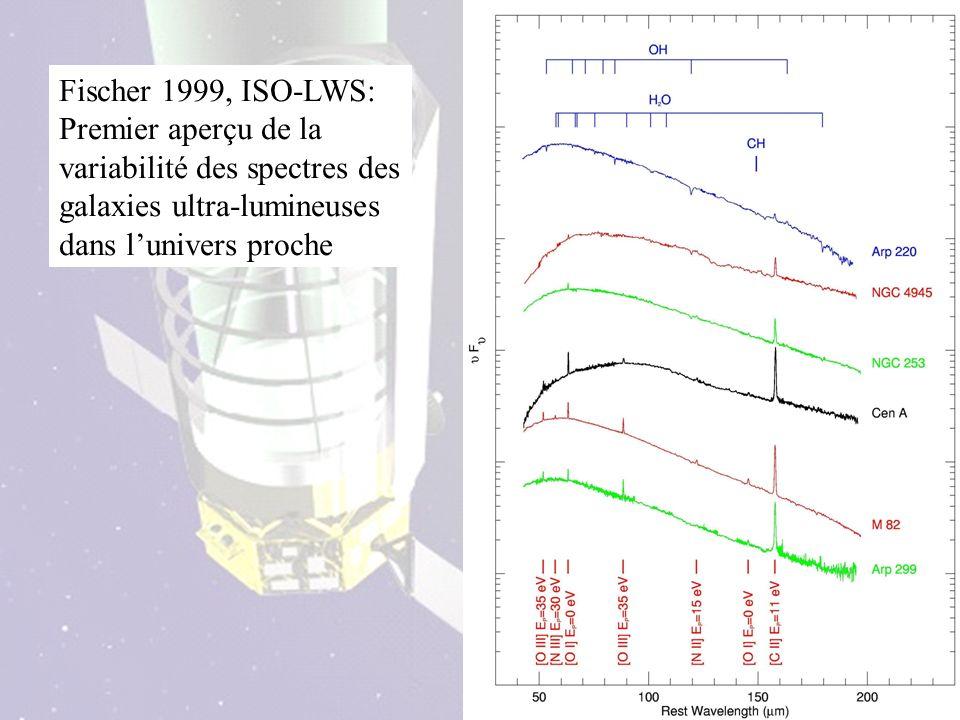 Fischer 1999, ISO-LWS: Premier aperçu de la variabilité des spectres des galaxies ultra-lumineuses dans lunivers proche