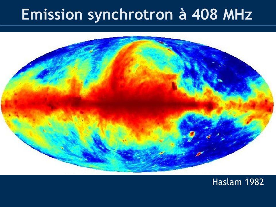 Emission synchrotron à 408 MHz Haslam 1982