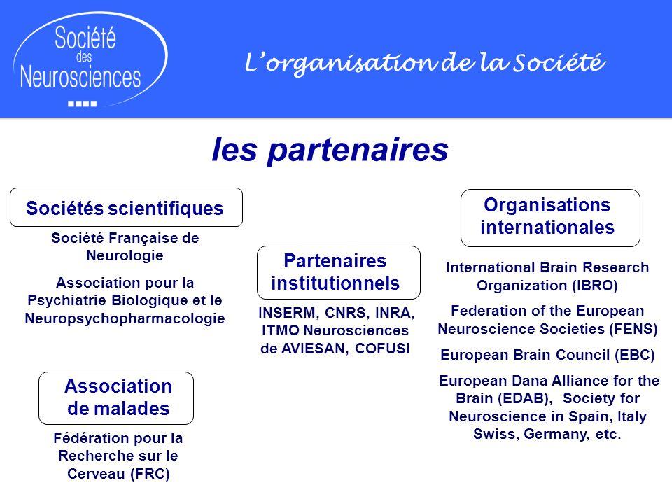 Lorganisation de la Société les partenaires Sociétés scientifiques Société Française de Neurologie Association pour la Psychiatrie Biologique et le Ne