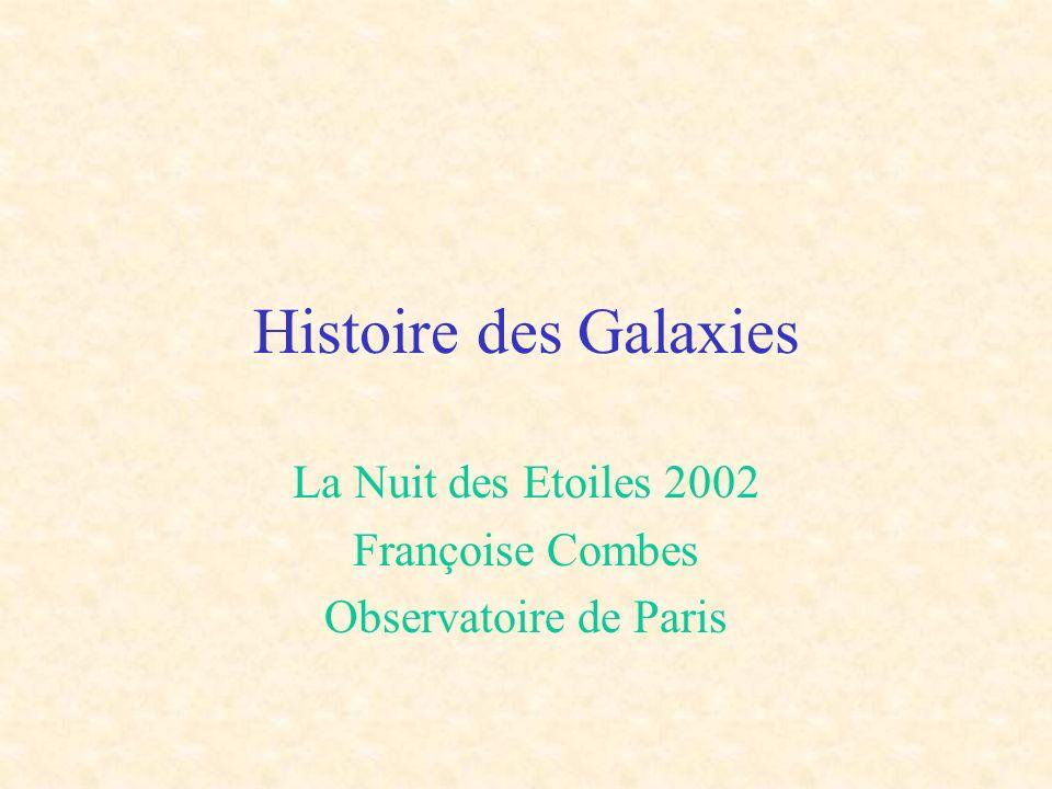 Histoire des Galaxies La Nuit des Etoiles 2002 Françoise Combes Observatoire de Paris