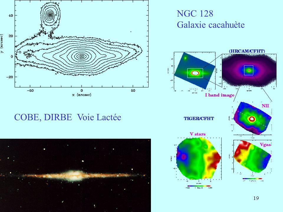 19 NGC 128 Galaxie cacahuète COBE, DIRBE Voie Lactée