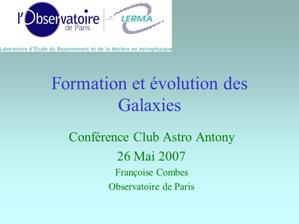 Formation et évolution des Galaxies Conférence Club Astro Antony 26 Mai 2007 Françoise Combes Observatoire de Paris