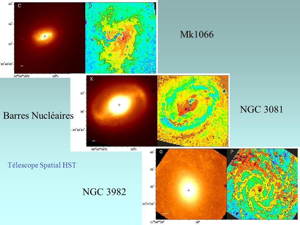 Mk1066 NGC 3081 NGC 3982 Télescope Spatial HST Barres Nucléaires