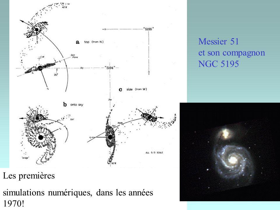 Messier 51 et son compagnon NGC 5195 Les premières simulations numériques, dans les années 1970!