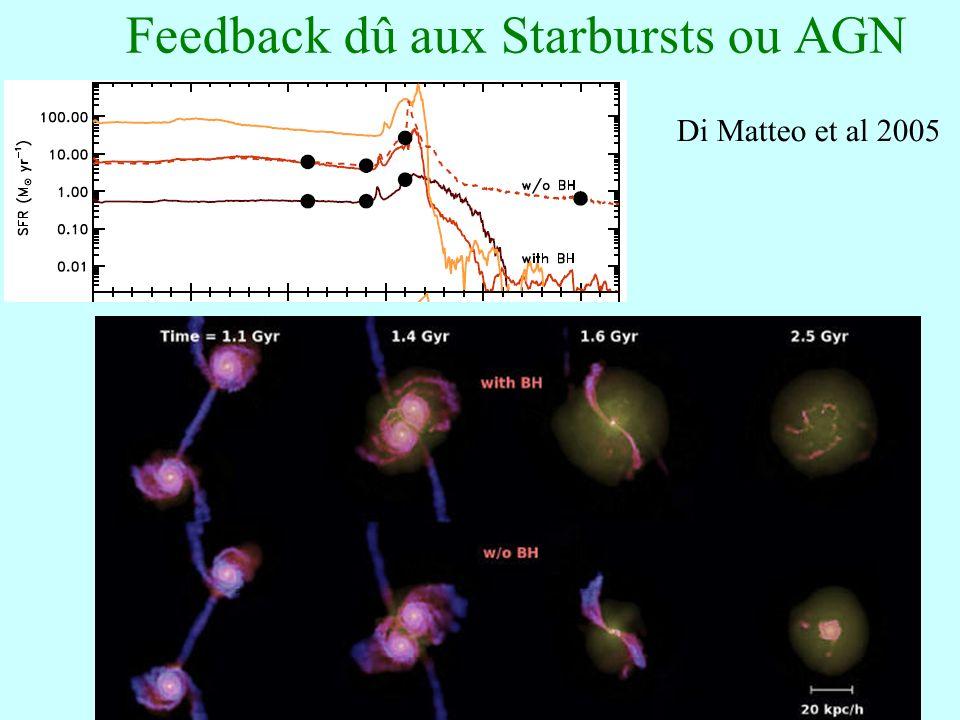 82 Feedback dû aux Starbursts ou AGN Di Matteo et al 2005