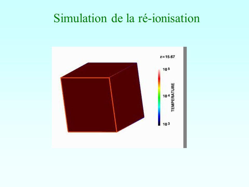 Simulation de la ré-ionisation