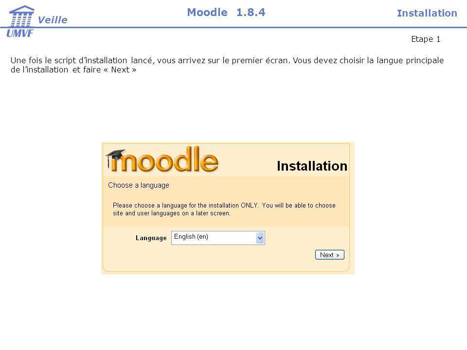 Créer un cours Veille Moodle 1.8.4 Pour ajouter un cours dans Moodle : Sélectionnez « Ajouter un cours » dans la page d administration.