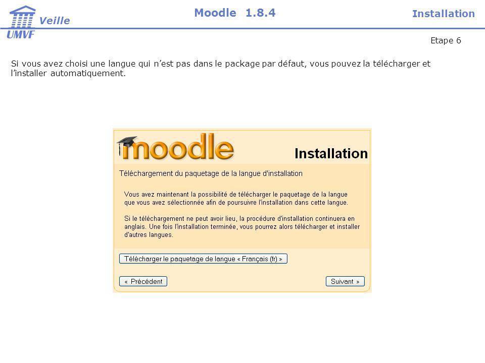 Si linstalleur de Moodle na pas les droit décriture dans le répertoire Internet, il vous demandera dy créer un fichier et dy coller du contenu.