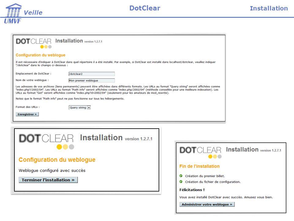 Installation Veille DotClear