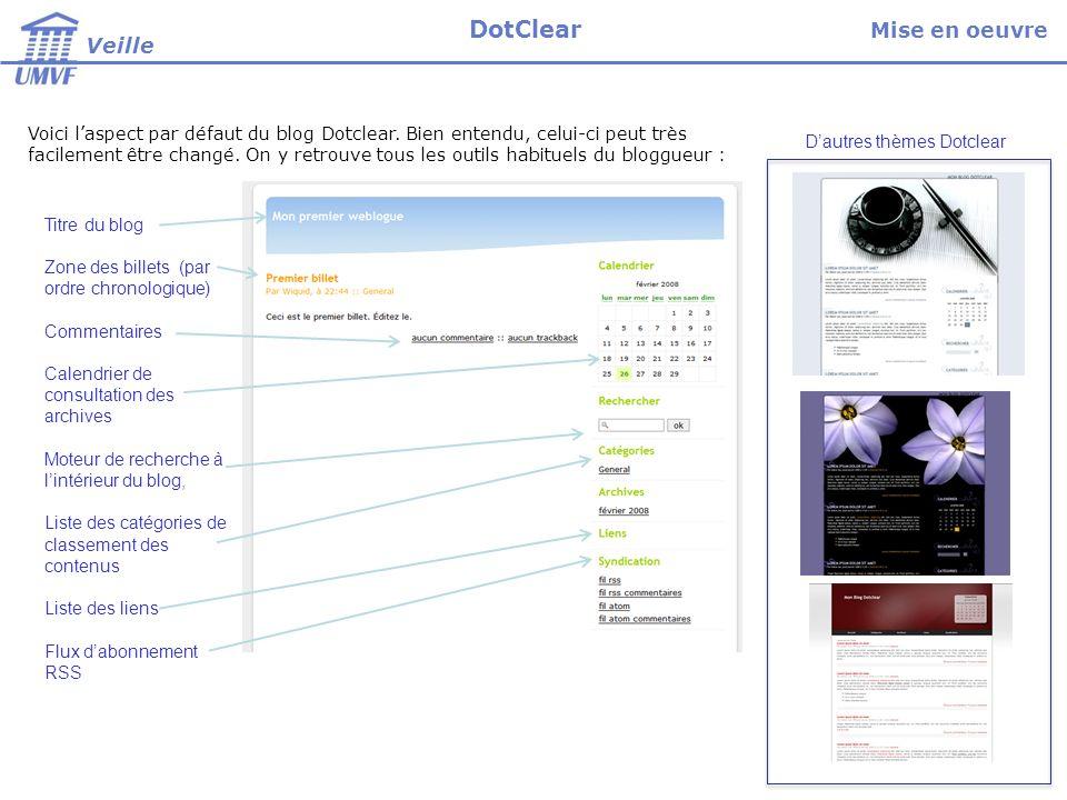 Voici laspect par défaut du blog Dotclear. Bien entendu, celui-ci peut très facilement être changé.