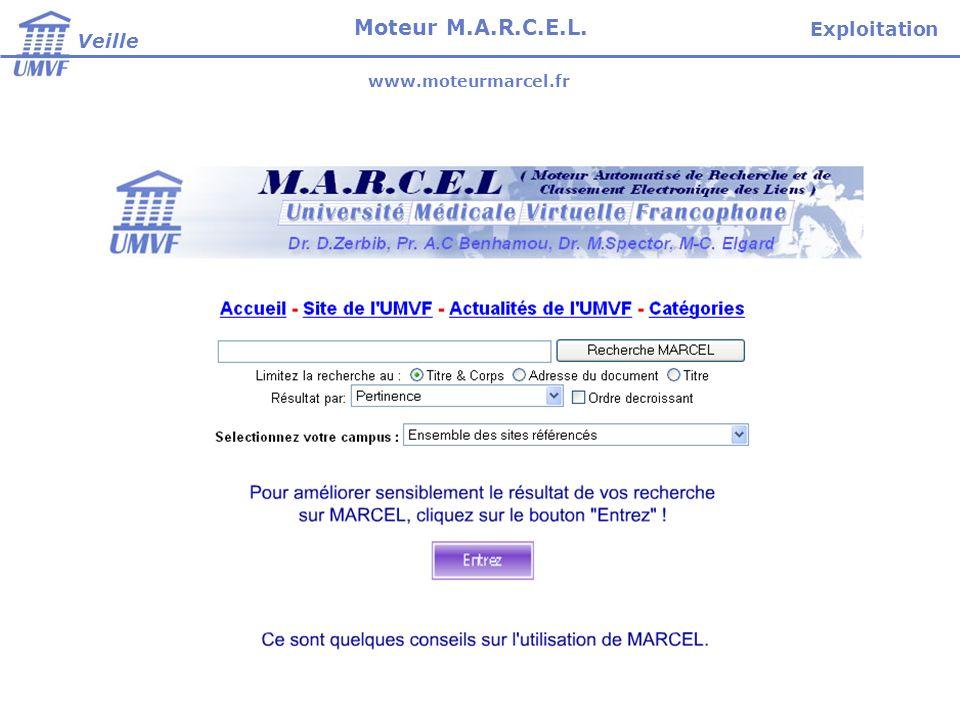 Veille Moteur M.A.R.C.E.L. Exploitation www.moteurmarcel.fr