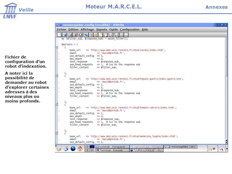 Fichier de configuration dun robot dindexation.