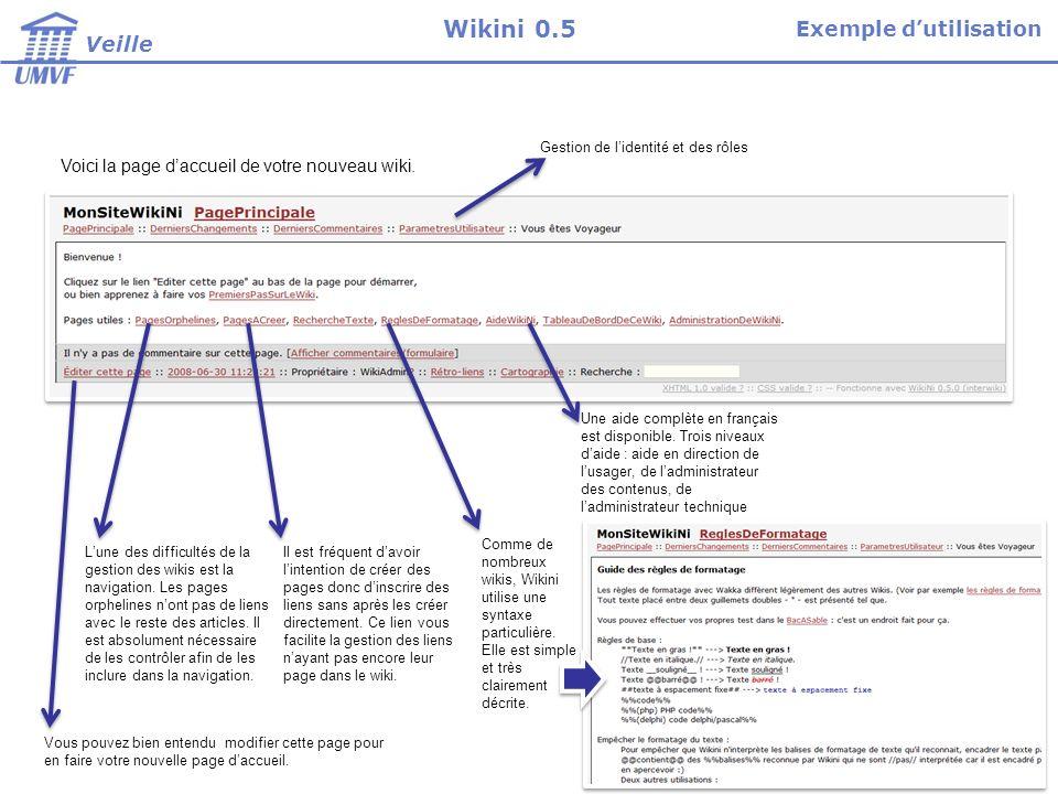 Voici la page daccueil de votre nouveau wiki.