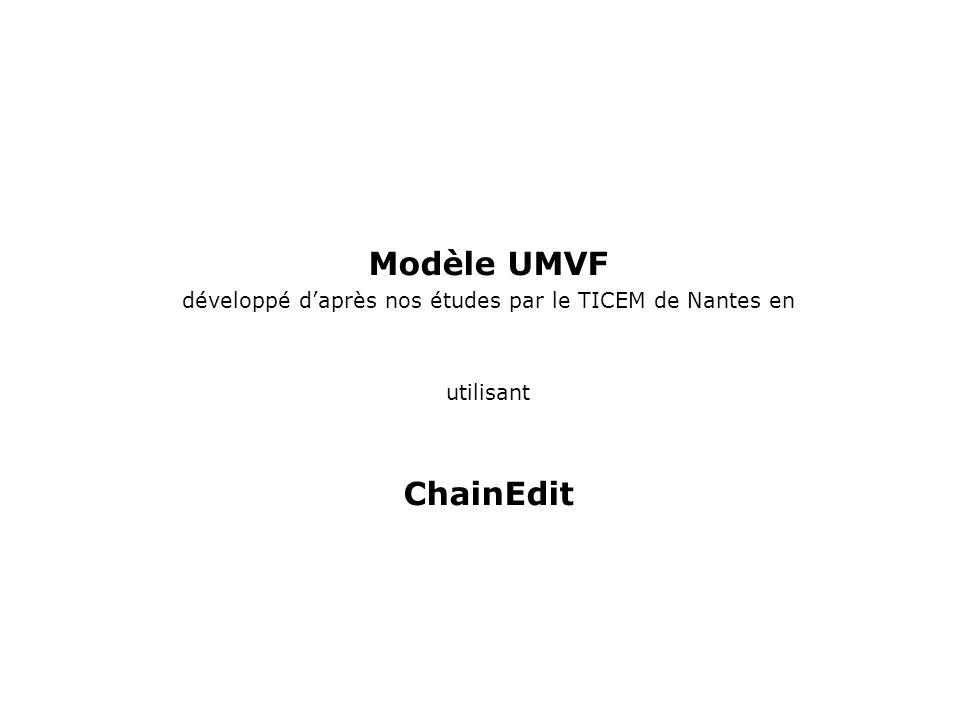 Modèle UMVF développé daprès nos études par le TICEM de Nantes en utilisant ChainEdit