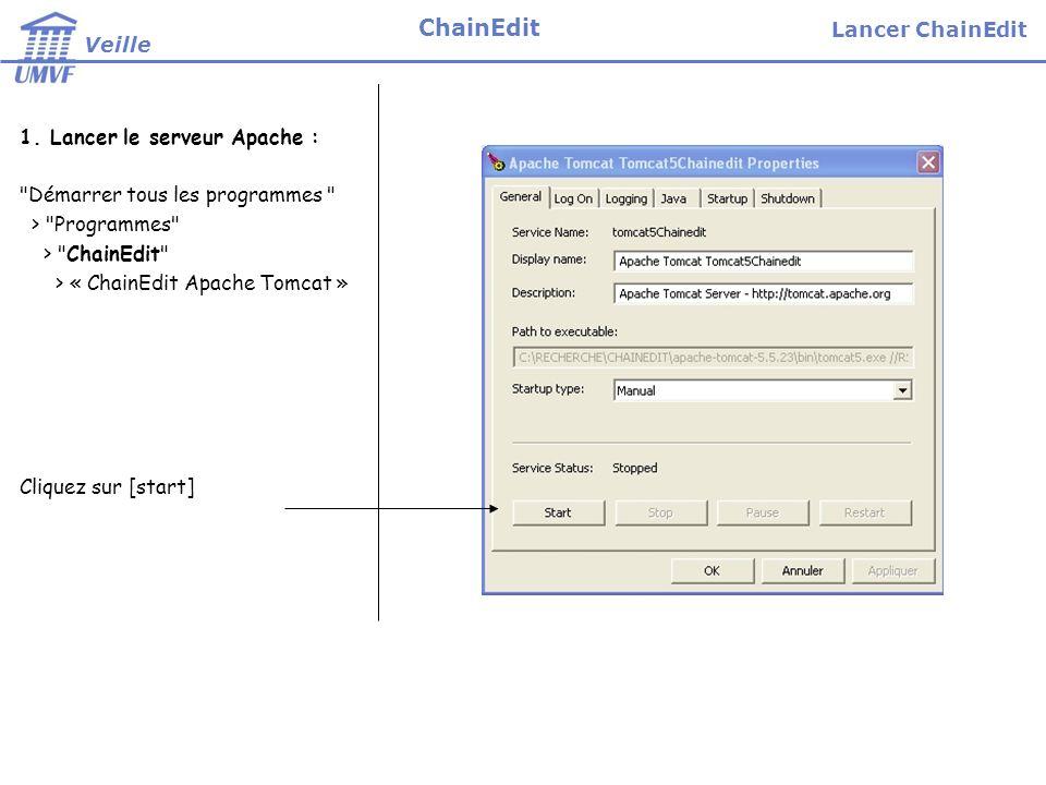 1. Lancer le serveur Apache :