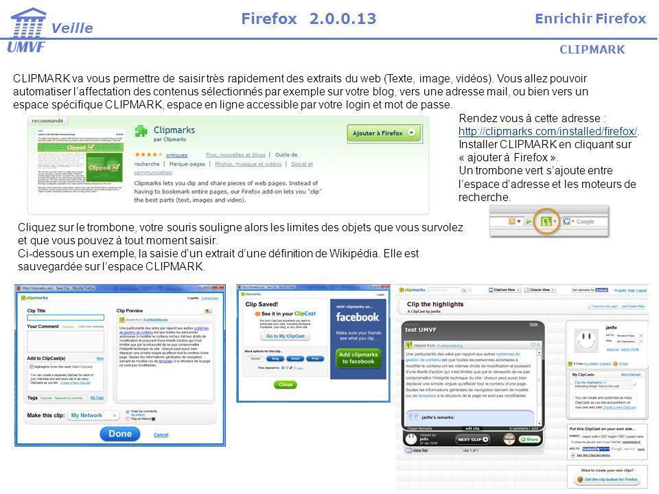 CLIPMARK CLIPMARK va vous permettre de saisir très rapidement des extraits du web (Texte, image, vidéos).