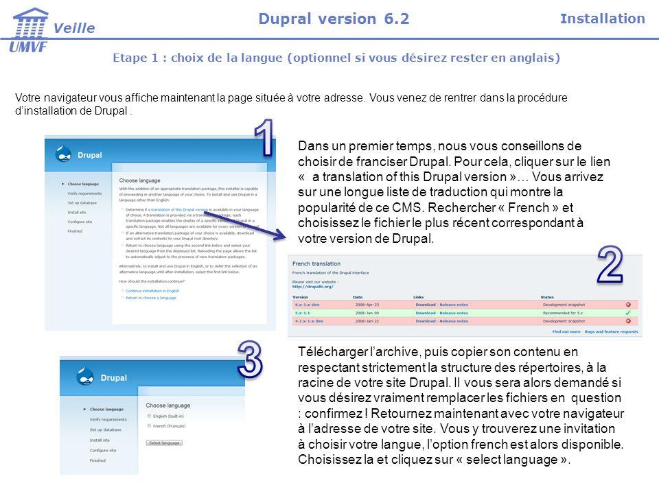 Etape 1 : choix de la langue (optionnel si vous désirez rester en anglais) Votre navigateur vous affiche maintenant la page située à votre adresse. Vo