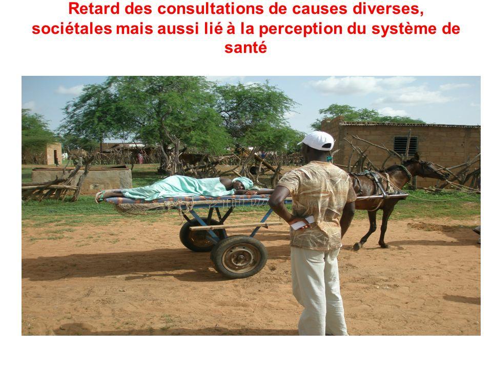 Retard des consultations de causes diverses, sociétales mais aussi lié à la perception du système de santé Retard des consultations de causes diverses