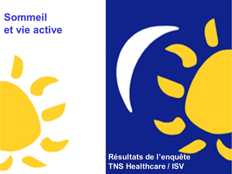 Conférence de presse Sommeil et vie active Résultats de lenquête TNS Healthcare / ISV