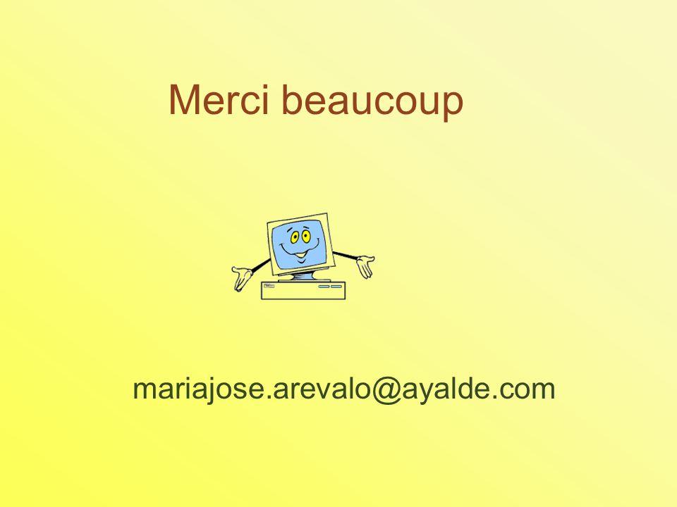 Merci beaucoup mariajose.arevalo@ayalde.com
