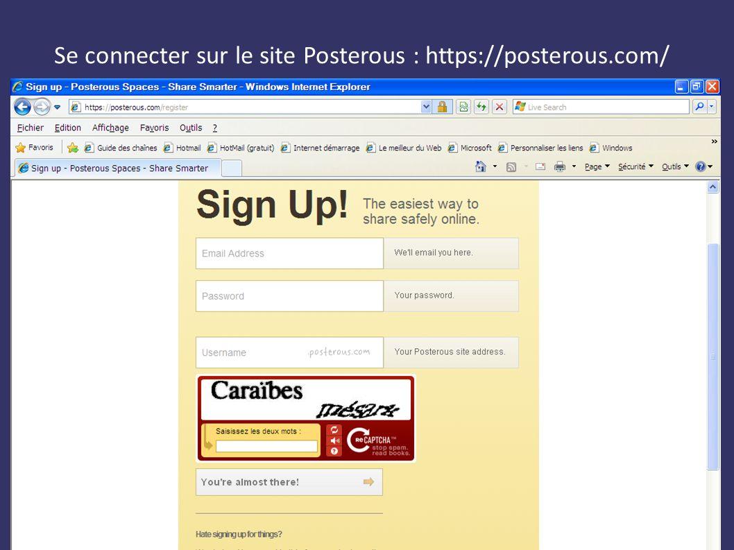 Expression Orale avec le Web2.0 Etienne Kneipp, Mission Tice Nancy-Metz Se connecter sur le site Posterous : https://posterous.com/