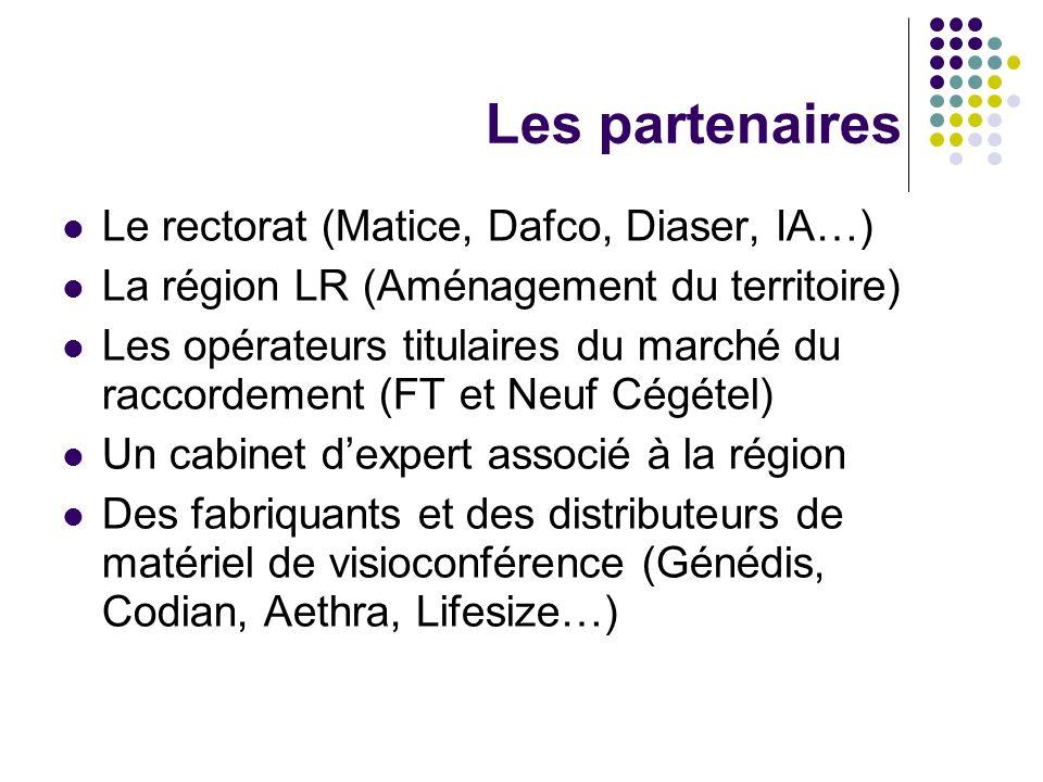 Les partenaires Le rectorat (Matice, Dafco, Diaser, IA…) La région LR (Aménagement du territoire) Les opérateurs titulaires du marché du raccordement