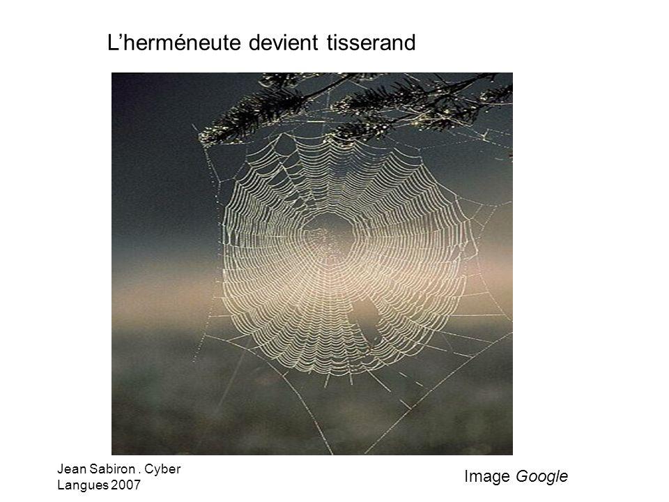 Jean Sabiron. Cyber Langues 2007 Lherméneute devient tisserand Image Google