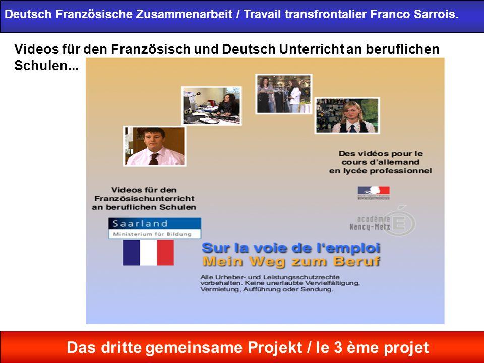 Videos für den Französisch und Deutsch Unterricht an beruflichen Schulen... Deutsch Französische Zusammenarbeit / Travail transfrontalier Franco Sarro