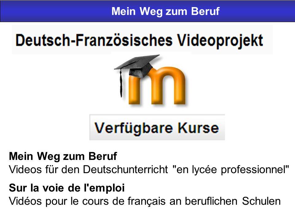Mein Weg zum Beruf Videos für den Deutschunterricht