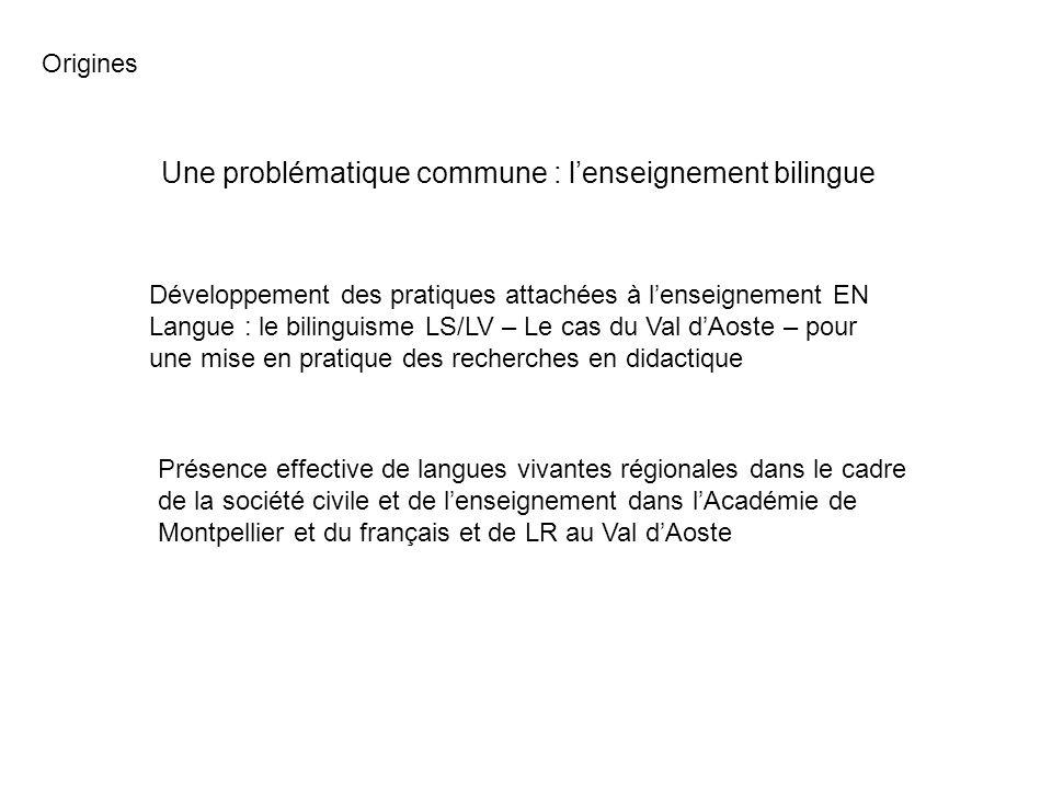 Une problématique commune : lenseignement bilingue Présence effective de langues vivantes régionales dans le cadre de la société civile et de lenseign