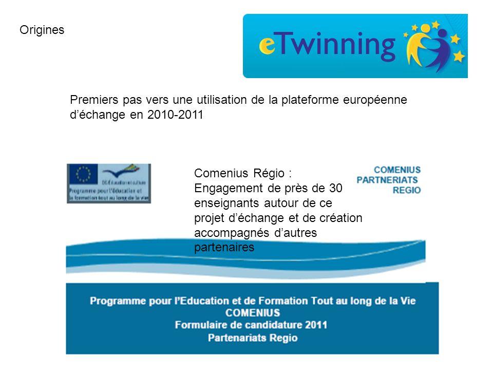 Premiers pas vers une utilisation de la plateforme européenne déchange en 2010-2011 Comenius Régio : Engagement de près de 30 enseignants autour de ce