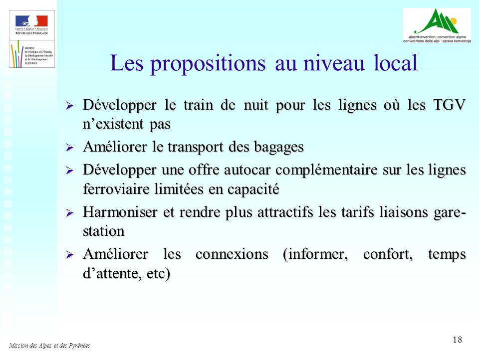 18 Développer le train de nuit pour les lignes où les TGV nexistent pas Développer le train de nuit pour les lignes où les TGV nexistent pas Améliorer
