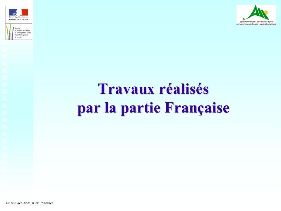 2 Travaux réalisés par la partie Française