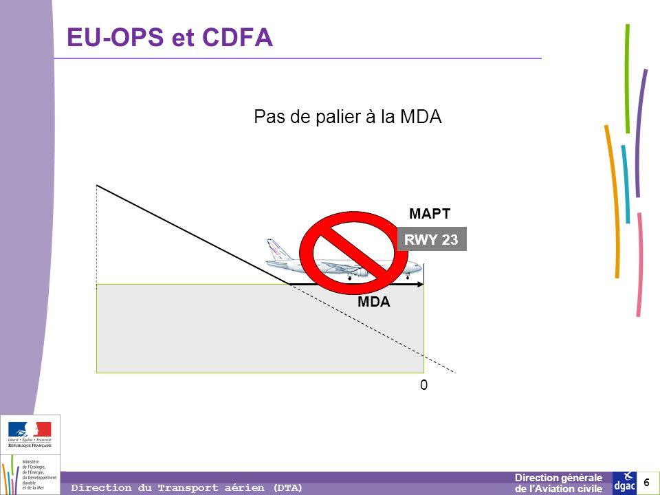 7 7 7 Direction générale de lAviation civile Direction du Transport aérien (DTA) EU-OPS – Minimums de visibilité Dans la majorité des cas, pas de grands bouleversements.