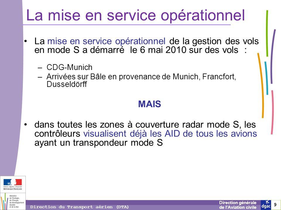 9 9 9 Direction générale de lAviation civile Direction du Transport aérien (DTA) La mise en service opérationnel La mise en service opérationnel de la