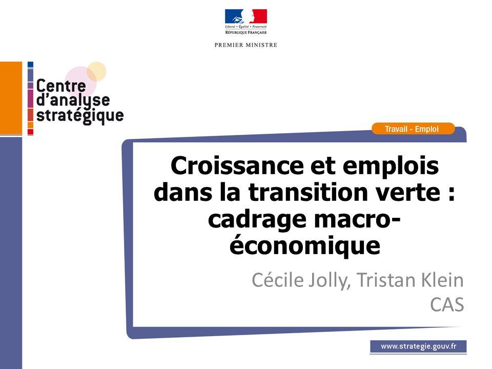 Croissance et emplois dans la transition verte : cadrage macro- économique Cécile Jolly, Tristan Klein CAS